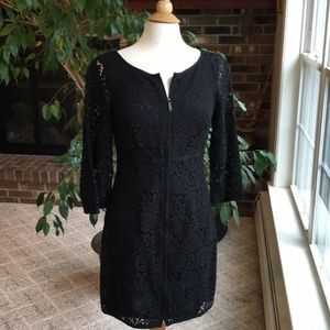 Black lace cocktail dress by Laundry